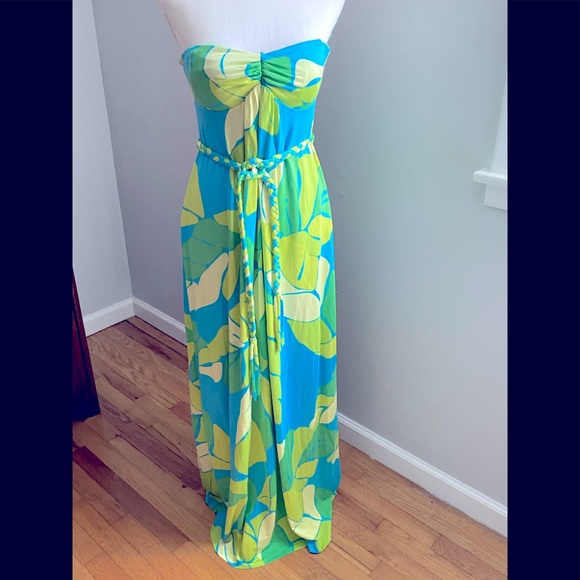🌸HP🌸 Lilly Pulitzer Paige Maxi Dress Turquoise